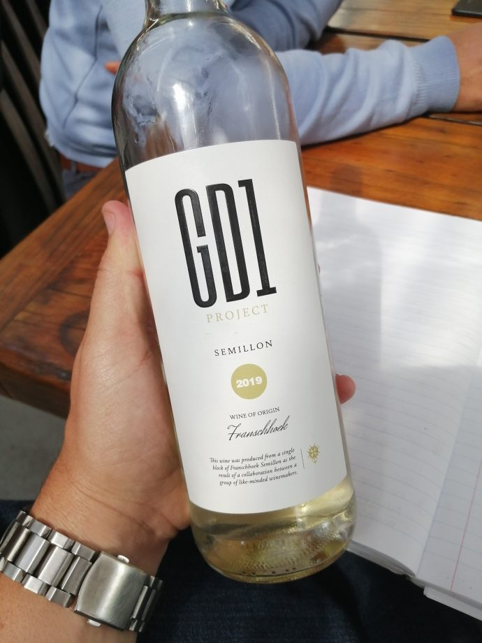 Our first taste of the newly-labelled 2019 GD1 Project Semillon